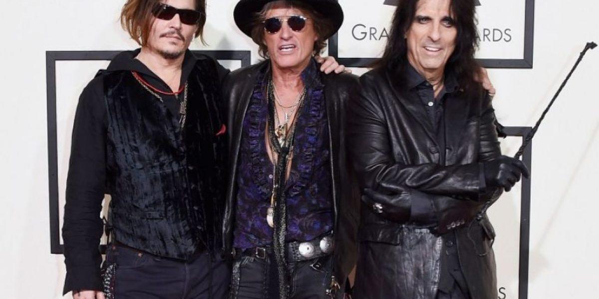 Johnny Depp en tributo a Lemmy Kilmister en los Grammy 2016