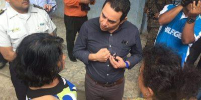 "El ""examen"" del presidente Jimmy Morales a estudiantes de Jocotán"