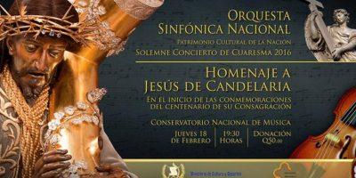 Concierto de la Orquesta Sinfónica Nacional homenaje a Jesús de Candelaria