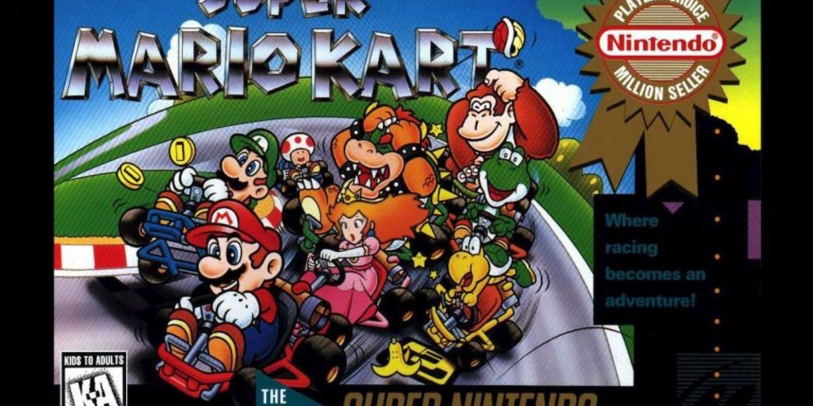 """Super Mario Kart"" para Super Nintendo (1992). Foto:Nintendo"