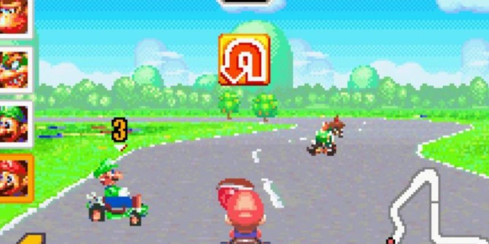 """Mario Kart: Super Circuit"" para Game Boy Advance (2001). Foto:Nintendo"