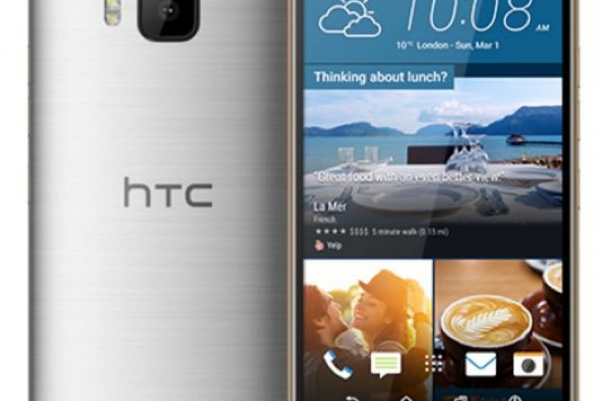 HTC con el HTC One M9. Foto: HTC