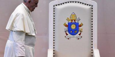 El papa Francisco es fotografiado durante su visita a México. Foto:AFP