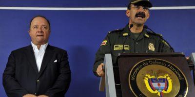 El director de la Policía de Colombia, Rodolfo Palomino, en conferencia de prensa. Foto:AFP