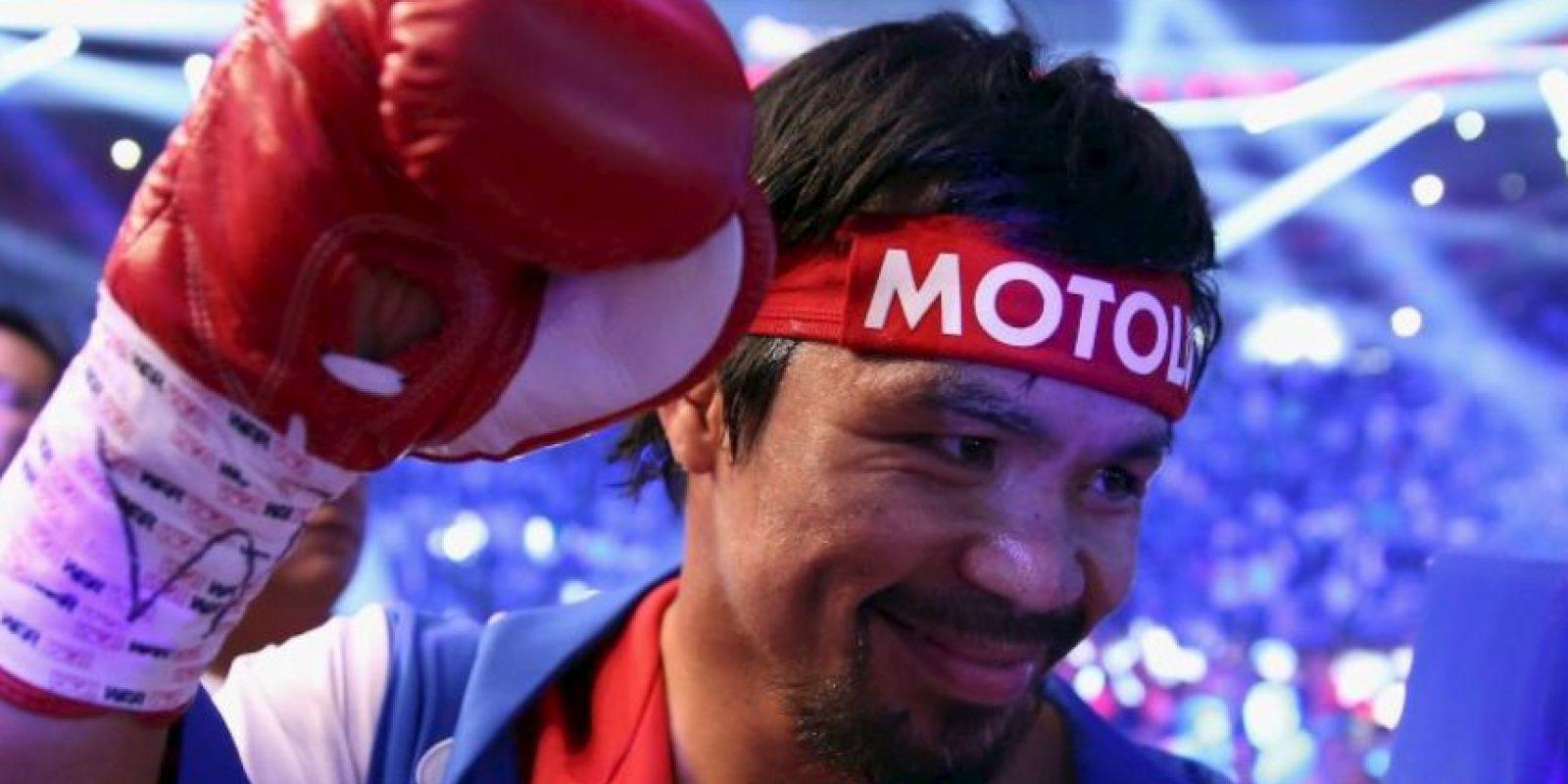 Manny Pacquiao se disculpa por comparar a homosexuales con animales. Cayó en su última pelea ante Floyd Mayweather. Foto:Getty Images
