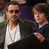 Robert Downey Jr. e Indio Falconer. Downey Indio no solo heredó la complicada juventud de su padre… Foto:Getty Images