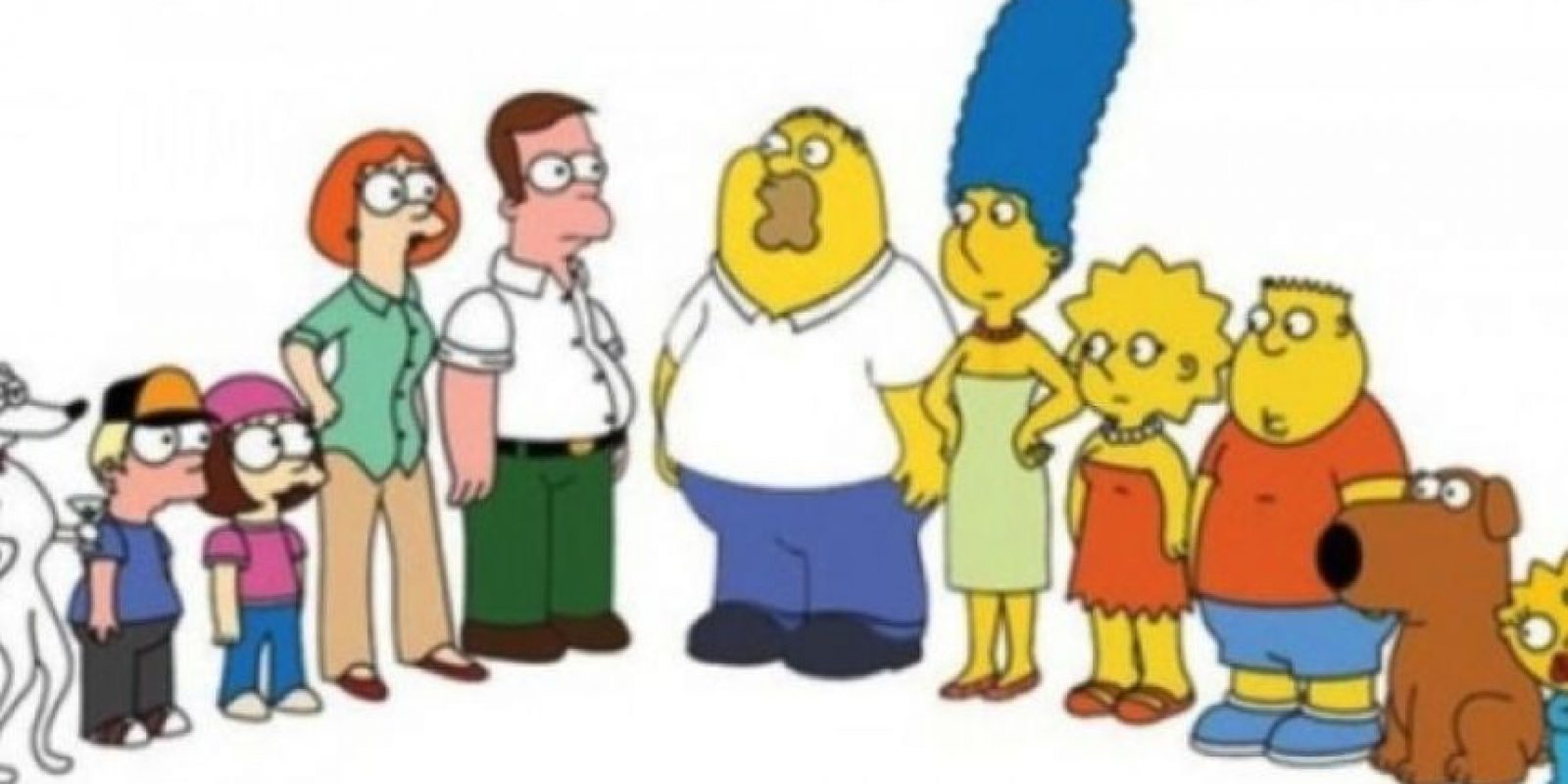 """""""Los Simpson"""" en su versión de """"Padre de familia"""" Foto:YouTube/Jim Jam"""