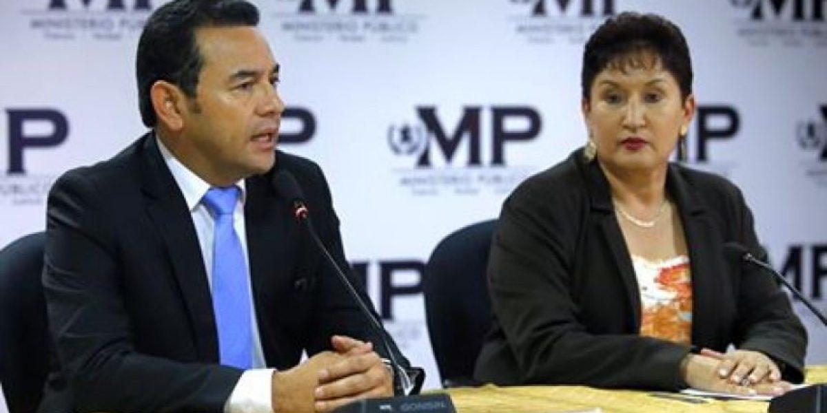 Con este mensaje, presidente Morales confirma su apoyo a la Fiscal General