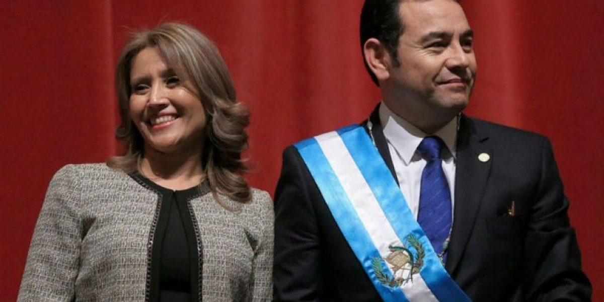 El emotivo mensaje del presidente Jimmy Morales a la primera dama