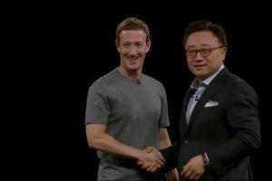 Mark con DJ Kho, CEO de Samsung. Foto:Samsung