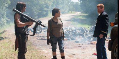 Personajes de The Walking Dead en una escena de la sexta temporada. Foto:@TWD_ES