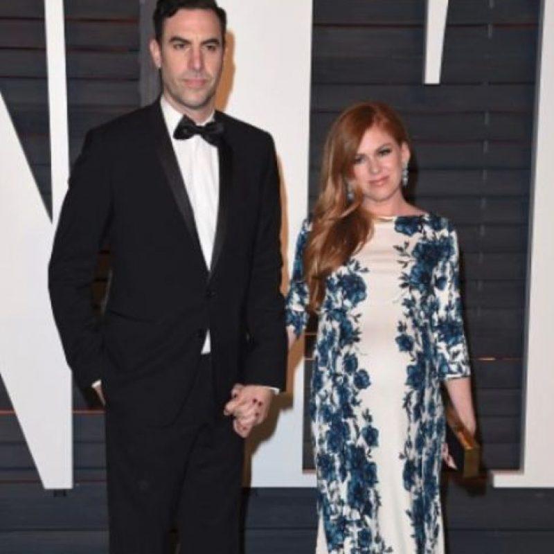 Isla Fisher y Sacha Baron Cohen Foto:Getty Images