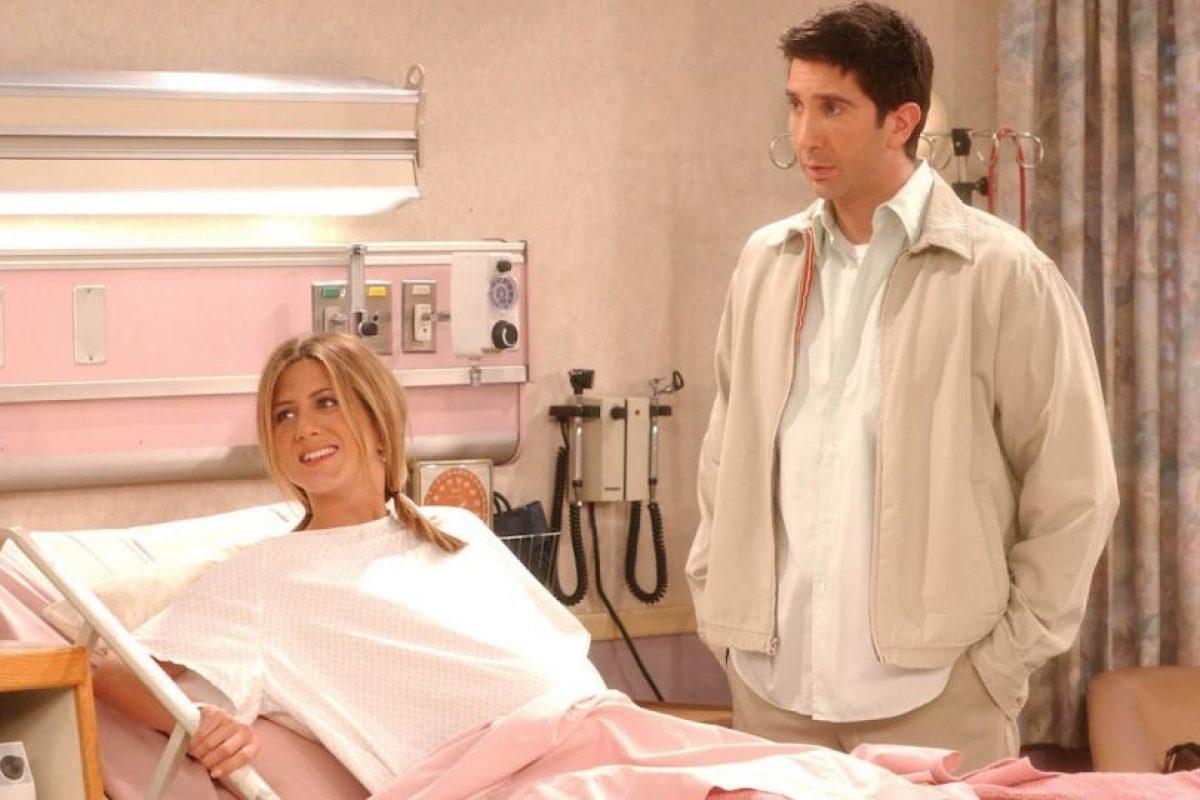 Jennifer Aniston (Rachel) y David Schwimmer (Ross) Foto:Getty Images