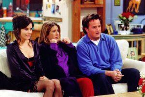 Jennifer Aniston (Rachel), Courtney Cox (Mónica) y Matthew Perry (Chandler) Foto:Getty Images