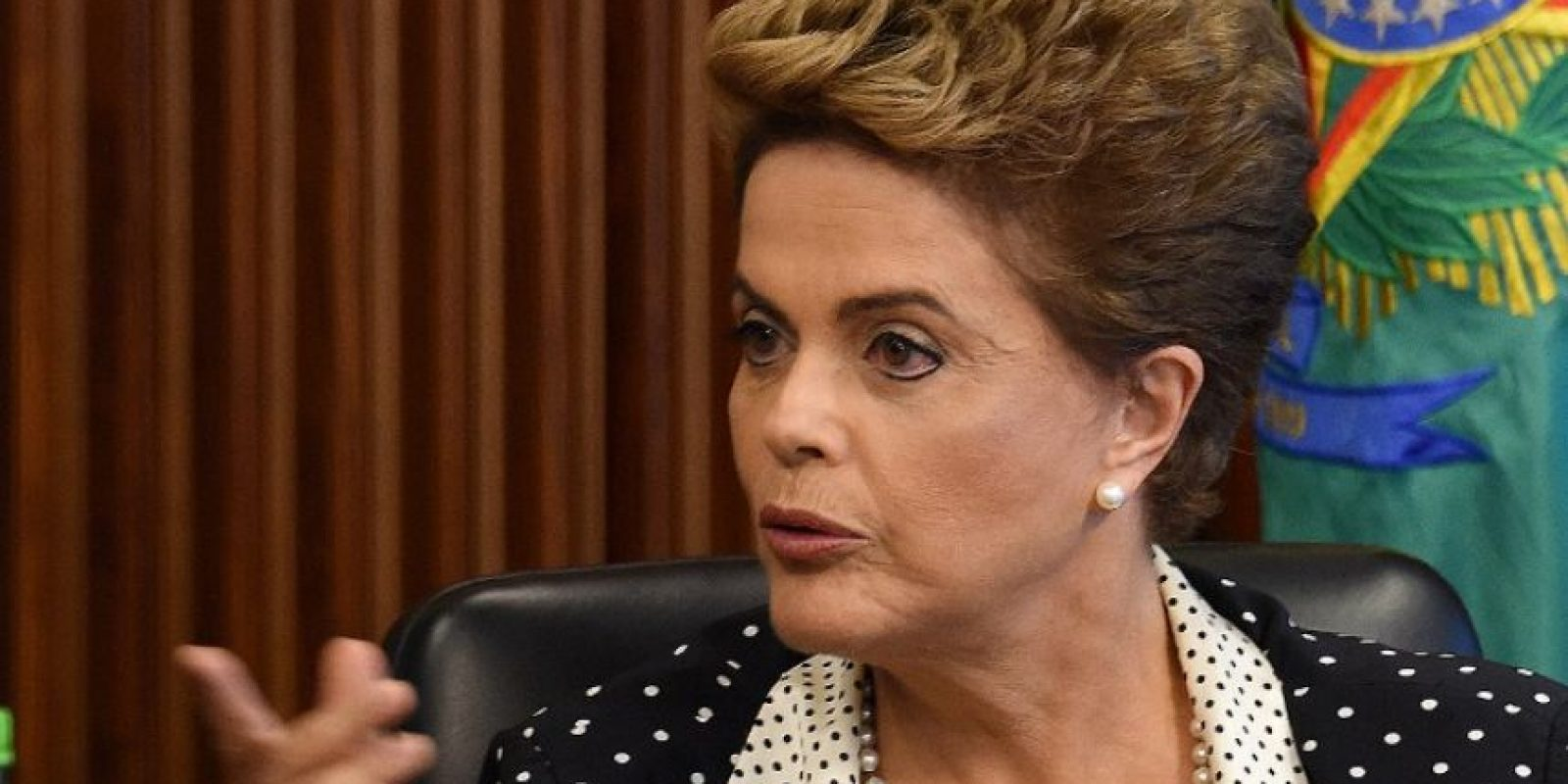 La presidenta brasileña, Dilma Rousseff, durante una reunión. Foto:AFP