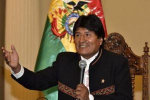El presidente Evo Morales durante un discurso en Bolivia. Foto:AFP