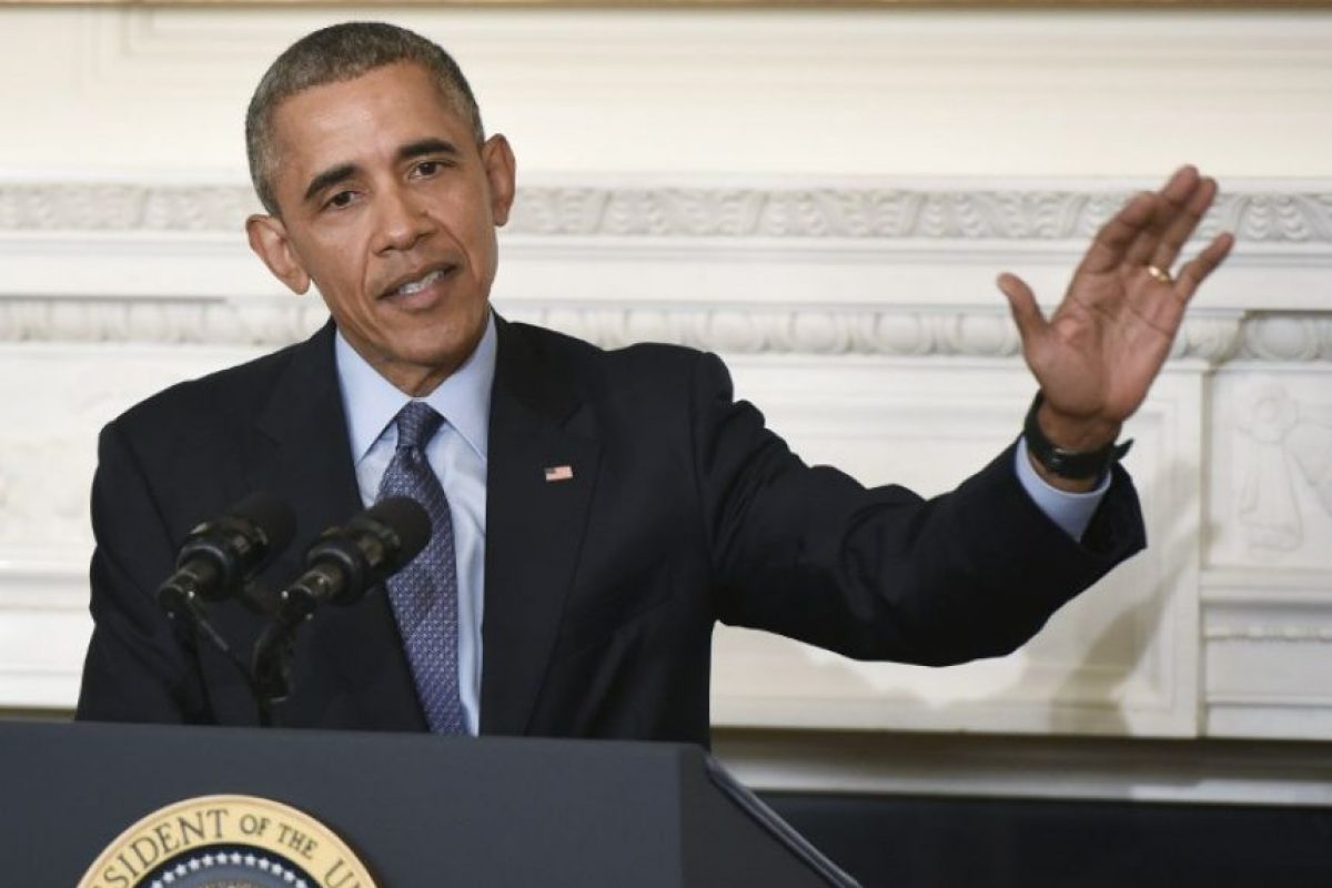 El presidente Barack Obama durante un discurso en Estados Unidos. Foto:AFP