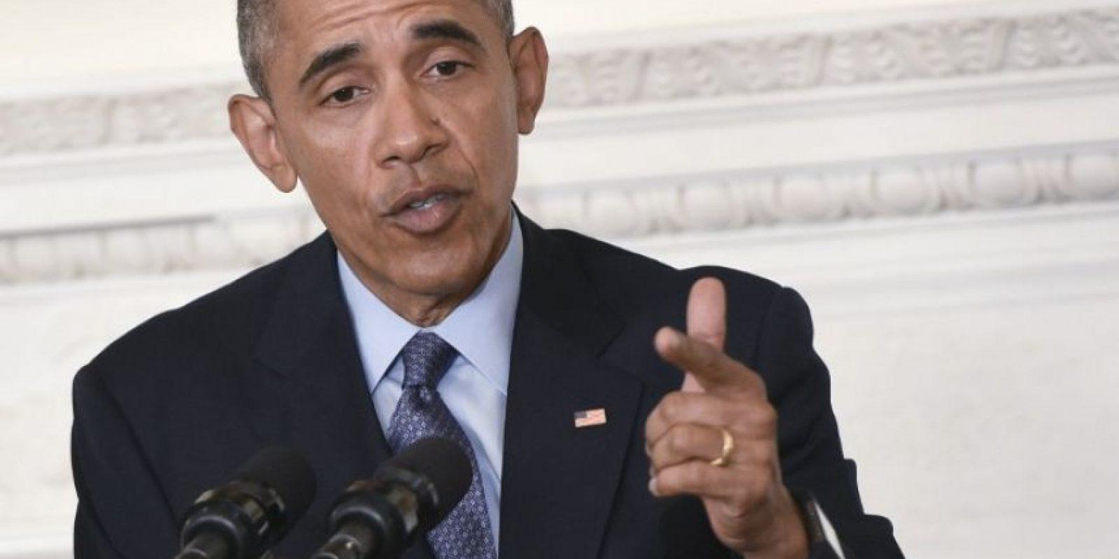 El presidente Barack Obama hace un gesto durante un discurso en Estados Unidos. Foto:AFP