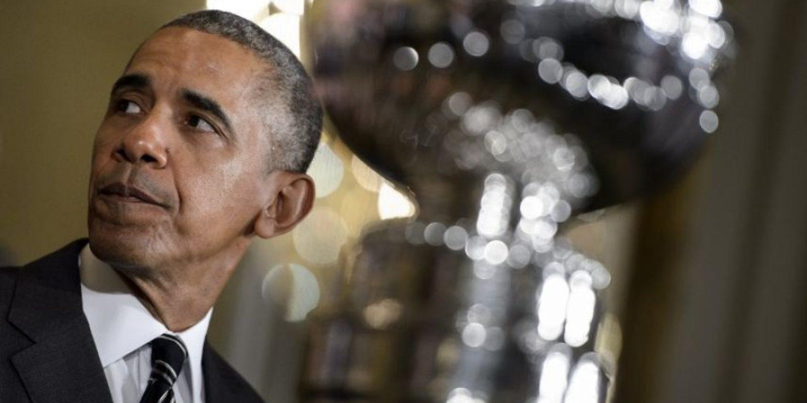 El presidente Barack Obama hace un gesto durante una reunión. Foto:AFP
