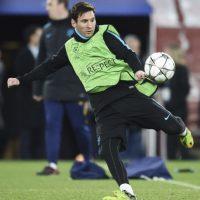 Foto:Lionel Messi durante el entrenamiento.AFP