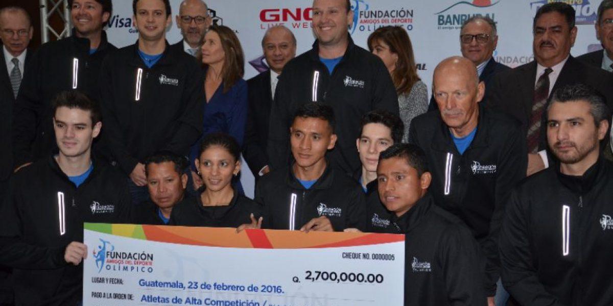 Atletas de alto rendimiento reciben apoyo económico por parte de Fundación Amigos por el Deporte Olímpico