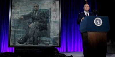 Frank Underwood ofreció un discurso al develar su retrato Foto:House of Cards