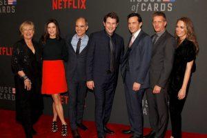 Algunos actores de la serie House of Cards acudieron a la presentación del retrato Foto:House of Cards