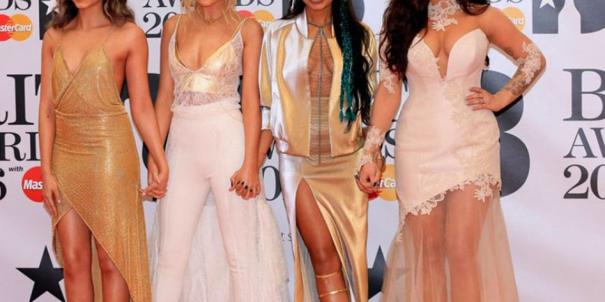 Leigh-Anne Pinnock muestra parte de su busto en los Brit Awards 2016