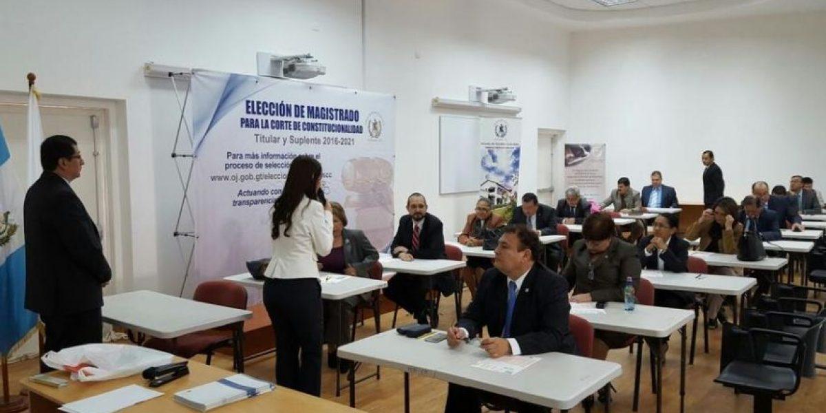 Las pruebas psicométricas a los candidatos a integrar nueva Corte de Constitucionalidad