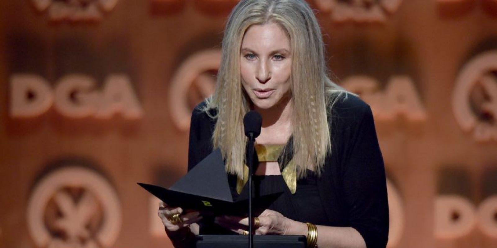Barbra Streisand. Es otra de las actrices que cree en la causa de Clinton y que no dudará en apoyarla. Foto:Getty Images