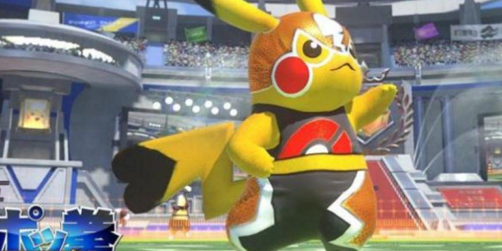Pikachu enmascarada será uno de los personajes jugables de Pokkén Tournament. Foto:Nintendo