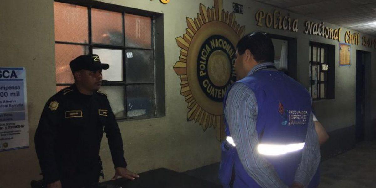 Fotos. La Procuraduría de los Derechos Humanos verifica situación precaria de estación policial