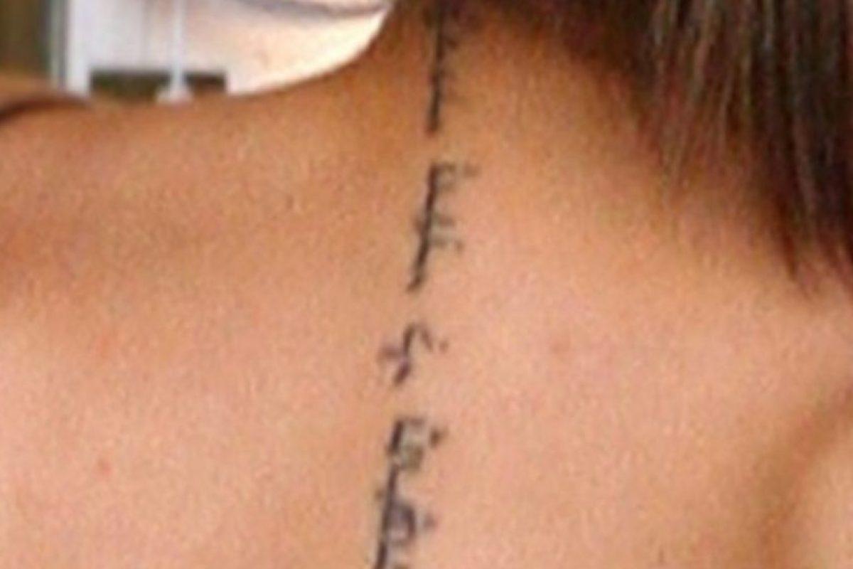 """""""Yo soy de mi amado y mi amado es mío"""". Este tatuaje es de: Foto:Getty Images"""