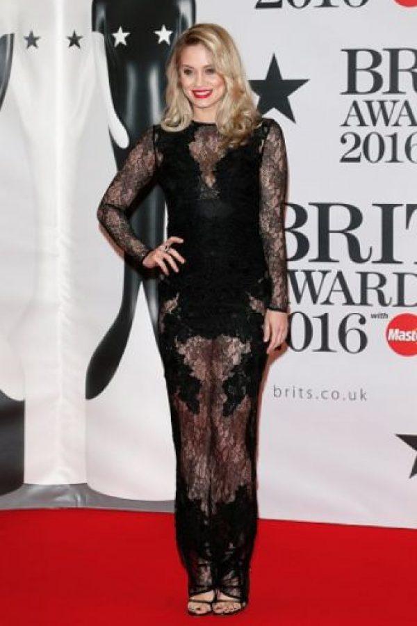 Kimberly Wyatt y su vestido de encaje. Foto:Getty Images