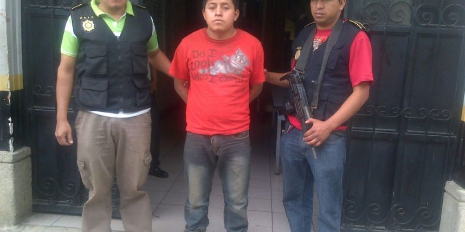 Policía detiene a Mynor López y rescata a un niño de 12 años. Foto:PNC