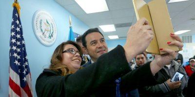 """""""Presidente, ¿una selfie?"""", el último día de Jimmy Morales en EE. UU."""