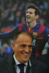 """""""Bravo Gianni. Te deseo suerte, pero también trabajo, para que termines con la corrupción política y económica en el fútbol"""", Javier Tebas, presidente de la Liga de España"""