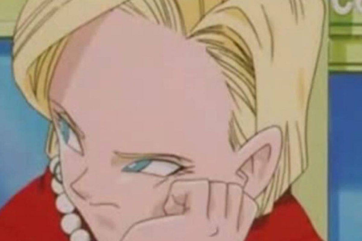 La Androide número 18 fue una de las principales enemigas de Gokú y sus amigos. Poco después se convierte en humana y se casa con Krilin. Tiene una hija, Marron. Foto:Toei