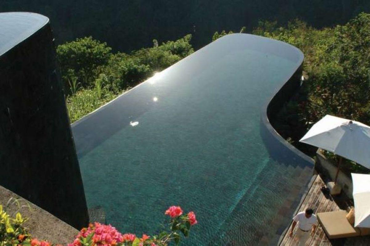 Ubud Hanging Gardens, Indonesia. La piscina del hotel tiene dos plantas y está situado en un impresionante bosque tropical. Foto:Wikicommons