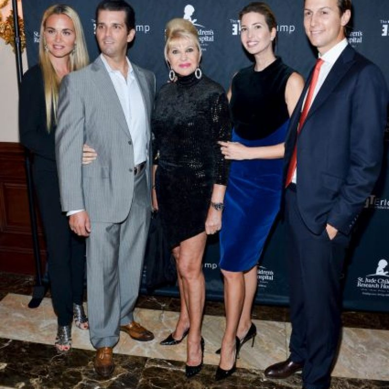 Ambos tuvieron a sus hijos Ivanka Trump, Donald Trump, Jr., Eric Trump Foto: Getty Images
