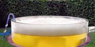 ¡Atención bebedores! La alberca de cerveza ha llegado