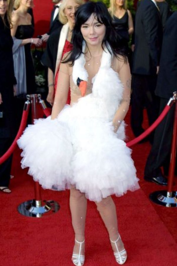 Björk y su cisne. Foto: vía Getty Images