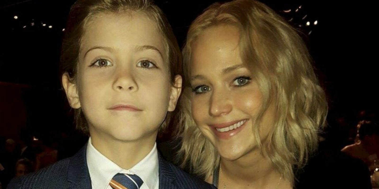 Con Jennifer Lawrence Foto: vía instagram.com/jacobtremblay