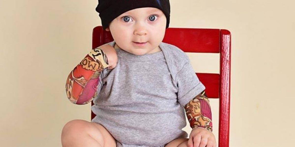 """Los niños también pueden lucir sus """"tatoos"""""""