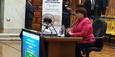 María Castellanos, presidenta del Tribunal de Mayor Riego B. Foto:OJ