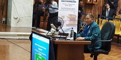 María Porras, quien integró en 2014 la Sala de Apelaciones de la Niñez y participó en el proceso para elegir al jefe del Ministerio Público en mayo de ese año. Foto:OJ