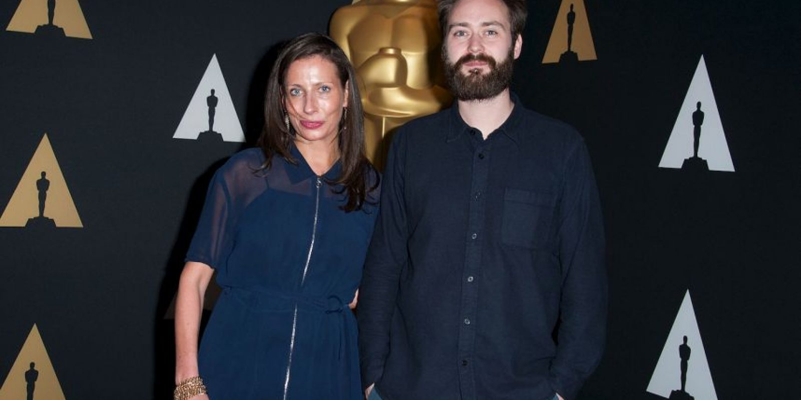 "Mejor corto – Benjamin Cleary y Serena Armitage por ""Stutterer"" Foto: Getty Images"