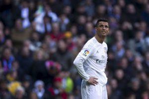 Cristiano Ronaldo la pasó mal en el último derbi de Madrid Foto:Getty Images