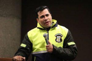El alcalde de Mixco, Neto Bran, durante un discurso. Foto:Publinews