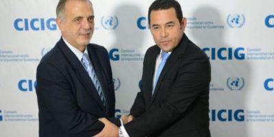 Jimmy Morales se reúne con jefe de CICIG, Iván Velásquez